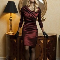 Burgundy Taffeta Dress