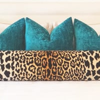 Luxe Chenille // Teal Pillow COVER ONLY