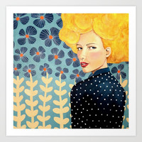lucie Art Print by sylvie demers