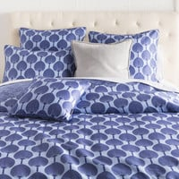 Kabuki Bedding in Cobalt & Sky Blue design by Florence Broadhurst