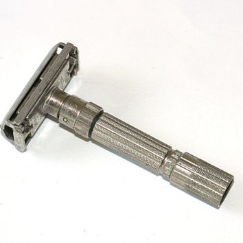 "Vintage Gillette Safety Razor TTO Adjustable F1 ""Fatboy"" 