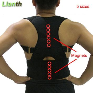 Top Quality Magnetic Back Posture Corrector for Student Men and Women 5 Sizes Adjustable Braces Support