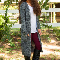 Ruth Cardigan - Charcoal