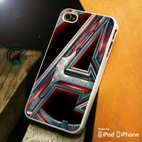 Avengers Age of Ultron Logo iPhone 4 5 5c 6 Plus Case, Samsung Galaxy S3 S4 S5 Note 3 4 Case, iPod 4 5 Case, HtC One M7 M8 and Nexus Case