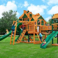 Gorilla Playsets Empire Extreme Wooden Swing Set