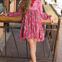 Sweet Darlin' Red Print Dress