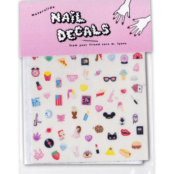 Cute and Sleazy Nail Decals