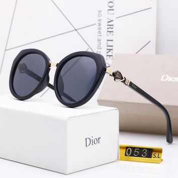 DIOR Fashionable Women Cute Sun Shades Eyeglasses Glasses Sunglasses 1#