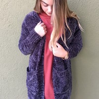 Hold Me Tight Cardigan- Charcoal