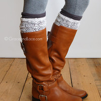 GRACE & LACE: London Lace Boot Cuff - Graphite