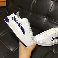 Louis Vuitton LV Old Skool Women Fashion Embroidery Sneakers Sport Shoes