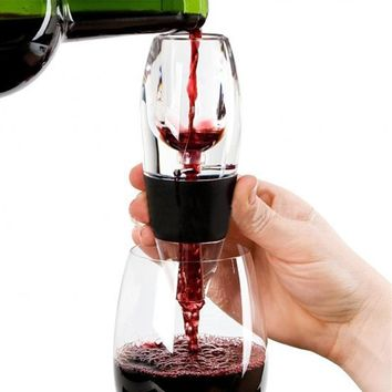 2018 Hot Sale Wine Decanter Silicone Wine Glass Red Wine Aerator Filter Practical Fast Wine Magic Decanter Bar Tool Kitchen Tool