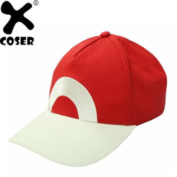 XCOSER  Ash Ketchum Hat Adjustable Baseball Cap New Version Cosplay Costume Accessories Holiday Casual Hats For Women MenKawaii Pokemon go  AT_89_9
