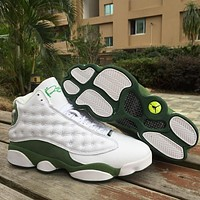 Air Jordan 13 Retro White/green Ray Allen Aj13 Retro Men Basketball Shoes | Best Deal Online