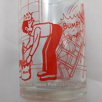 Archie Glass Archie Gets A Helping Hand Glass, Jelly Glass, Archie Comics