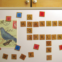 The Spoon Sisters Scrabble Refrigerator Magnet Set