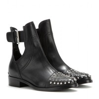 miu miu - studded leather boots