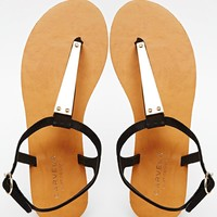 Carvela Black Kindred Flat Sandals