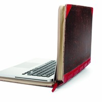 Twelve South 12-1002 BookBook, Hardback Leather Case for 13-inch MacBook Pro( Red)