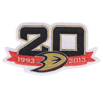 2013 Anaheim Ducks Team 20th Anniversary Season Logo Jersey Patch