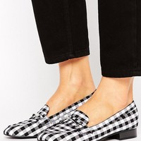 New Look Gingham Check Loafer at asos.com