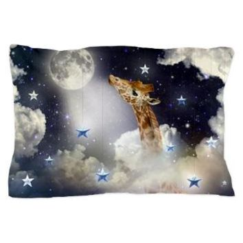 Shoot For The Moon (giraffe In Clouds) Pillow Case> Pillow Cases> soaring anchor designs