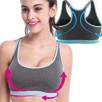 Hot Girl Women Sport Yoga Vest Bra Top Breathable Material for Running Gym Workout