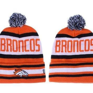 ESB8KY Denver Broncos Beanies New Era NFL Football Hat