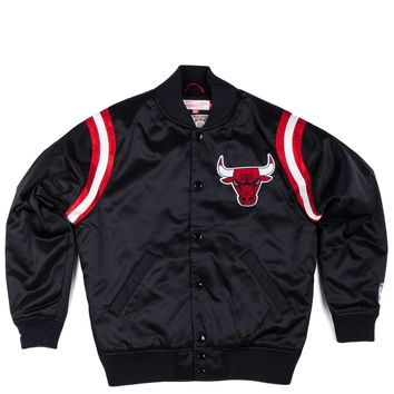 Mitchell and Ness Fall 2013 NBA Division Satin Jacket - Chicago Bulls Black