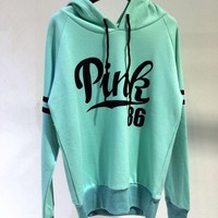 victoria s secret women s fashion letter print hooded long sleeves pullover tops sweater hoodie-1