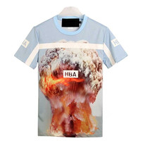 Indie Designs Hood by Air Inspired Mushroom Cloud Print T-Shirt