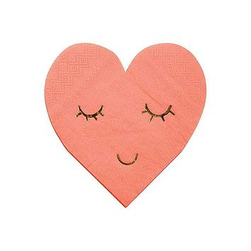Blushing Heart Napkins