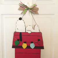 Snoopy Christmas Door Hanger
