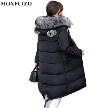 Plus Size Winter Coat Women Long Parkas Large Fur Collar Jacket Coat Female Thick Warm Coat Ladies Outwear Winter Jacket Women
