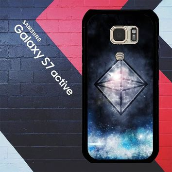 Sacred Geometry Symbol For Air L1283 Samsung Galaxy S7 Active Case