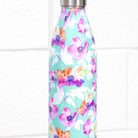 Stainless Steel 25 oz Floral Hot/Cold Bottle {Teal}