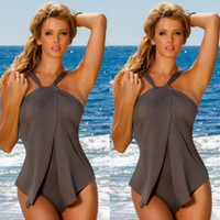 Sexy Women Swimwear One Piece Swimsuit Monokini Padded Bikini Bathing Elastic Solid BeachwearC494 MP