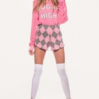SUGAR RUSH BAGGY BEACH JUMPER at Wildfox Couture in  CHILL PILL, BEL AIR