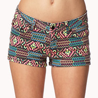 Sunstruck Tribal Print Shorts