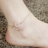 Gift Jewelry Sexy Cute Ladies New Arrival Shiny Korean Stylish Bells Titanium Anklet [8169870279]