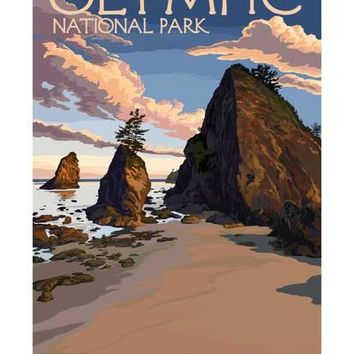 Kalaloch Beach - Olympic National Park, Washington Art Print by Lantern Press at Art.com