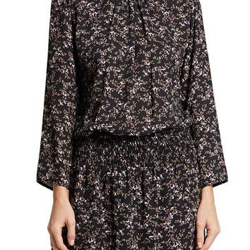 Veronica M Bell Sleeve Chiffon Dress