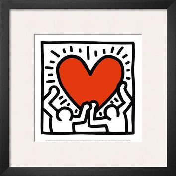 Untitled, c.1988 Framed Art Print by Keith Haring at Art.com