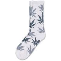 HUF Plantlife White & Charcoal Crew Socks at Zumiez : PDP