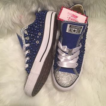 couture pearl and crystals wedding prom custom converse color
