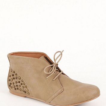 Qupid Shuffle Stud Flat Booties at PacSun.com