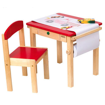 Red Art Table and Chair Set