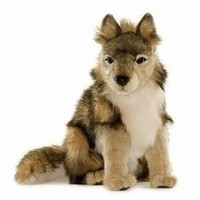Hansa Seated Wolf Cub Plush