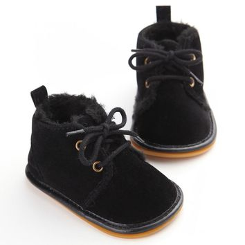 Vintage Rubber Bottom Winter Baby  Boots Non-Slip