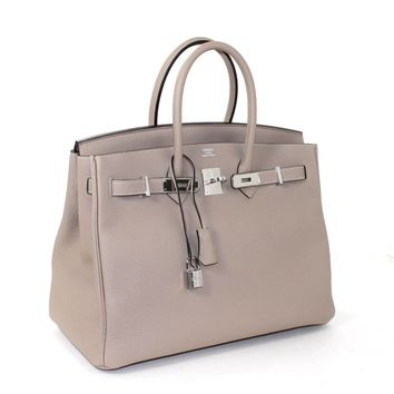 price kelly bag hermes - hermes 35cm birkin bag craie togo with gold hardware never carried